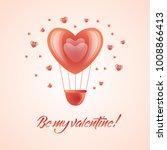 vector happy valentines day  be ... | Shutterstock .eps vector #1008866413