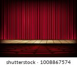 a theater stage with a red... | Shutterstock .eps vector #1008867574