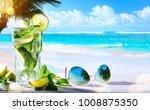 summer tropical beach wine bar  ...   Shutterstock . vector #1008875350