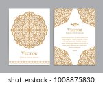 gold vintage greeting card on a ... | Shutterstock .eps vector #1008875830