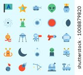 icons set about universe with... | Shutterstock .eps vector #1008879820