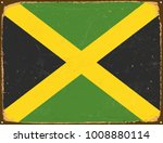 vintage metal sign   jamaica... | Shutterstock .eps vector #1008880114