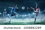 children play soccer. mixed... | Shutterstock . vector #1008882289