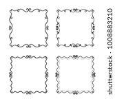 vector set of decorative frames.... | Shutterstock .eps vector #1008883210