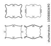 vector set of decorative frames.... | Shutterstock .eps vector #1008883690