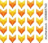 geometric foxes pattern vector... | Shutterstock .eps vector #1008885760