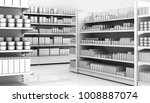 interior of a supermarket with... | Shutterstock . vector #1008887074