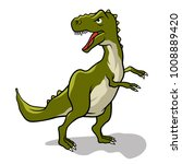 dinosaur. vector illustration.... | Shutterstock .eps vector #1008889420