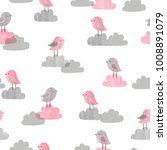 seamless pattern with cute... | Shutterstock .eps vector #1008891079