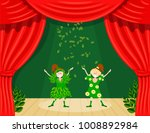 abstract children's theater.... | Shutterstock .eps vector #1008892984