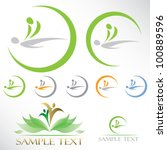 massage icons   vector... | Shutterstock .eps vector #100889596