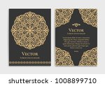 gold vintage greeting card on a ... | Shutterstock .eps vector #1008899710