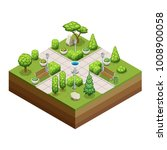 isometric trees and park... | Shutterstock .eps vector #1008900058