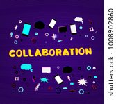 collaboration phrase with... | Shutterstock .eps vector #1008902860