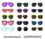 summer fashion sunglasses set... | Shutterstock .eps vector #1008904840