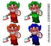 set of evil clown holding a... | Shutterstock .eps vector #1008905080