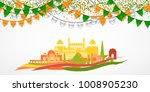 india republic day celebration. ... | Shutterstock .eps vector #1008905230