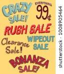 illustration of different sale... | Shutterstock .eps vector #1008905464