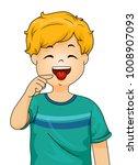 illustration of a little boy... | Shutterstock .eps vector #1008907093