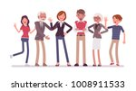 family members together.... | Shutterstock .eps vector #1008911533