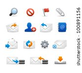professional e mail icons   set ...   Shutterstock .eps vector #100891156