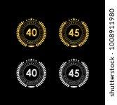 40 45 years anniversary... | Shutterstock .eps vector #1008911980