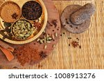 various spices with stone... | Shutterstock . vector #1008913276