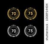 70 75 years anniversary... | Shutterstock .eps vector #1008914404