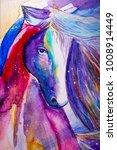 Beautiful Colorful Horse...
