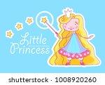 little princess design template ... | Shutterstock .eps vector #1008920260