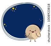 cute cartoon pluto  planet ... | Shutterstock .eps vector #1008923818