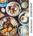 mezzo sharing platter served... | Shutterstock . vector #1008924049