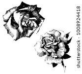 wild flowers roses isolated.... | Shutterstock .eps vector #1008924418
