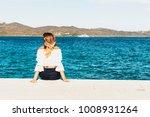 beautiful blond woman looking... | Shutterstock . vector #1008931264