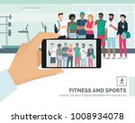 young multi ethnic sportspeople ... | Shutterstock .eps vector #1008934078