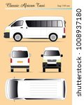 classic old african taxi van | Shutterstock .eps vector #1008937180