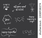 set of love quotes for... | Shutterstock .eps vector #1008938374