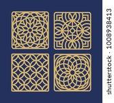 decorative laser cut coaster... | Shutterstock .eps vector #1008938413