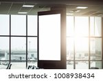 blank advertising billboard at... | Shutterstock . vector #1008938434