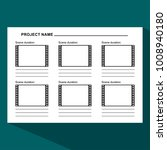 storyboard template in form of... | Shutterstock . vector #1008940180