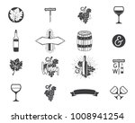 wine production icons set.... | Shutterstock .eps vector #1008941254