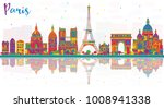 paris france city skyline with... | Shutterstock .eps vector #1008941338