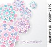 elegant floral background with... | Shutterstock .eps vector #1008941590