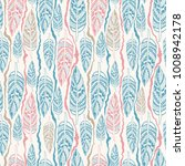 vintage seamless pattern with... | Shutterstock .eps vector #1008942178