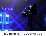 tv camera in a concert hall... | Shutterstock . vector #1008946798