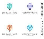 brain light logo design vector | Shutterstock .eps vector #1008949888