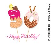 happy birthday card. festive... | Shutterstock .eps vector #1008953623