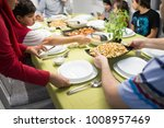 ready iftar food on table at... | Shutterstock . vector #1008957469