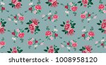 seamless floral pattern in... | Shutterstock .eps vector #1008958120