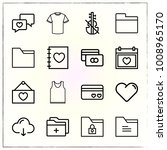 valentine's day line icons set... | Shutterstock .eps vector #1008965170